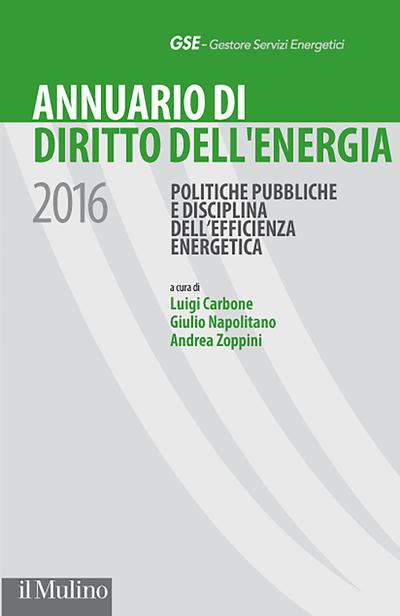 Cover Annuario di Diritto dell'energia 2016